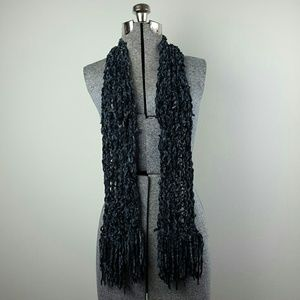 Accessories - Gray Chenille Woven Scarf